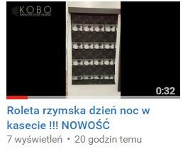 Nowy System !!! rolety rzymskie dzień noc dostępny 01.03.2017r. !!!